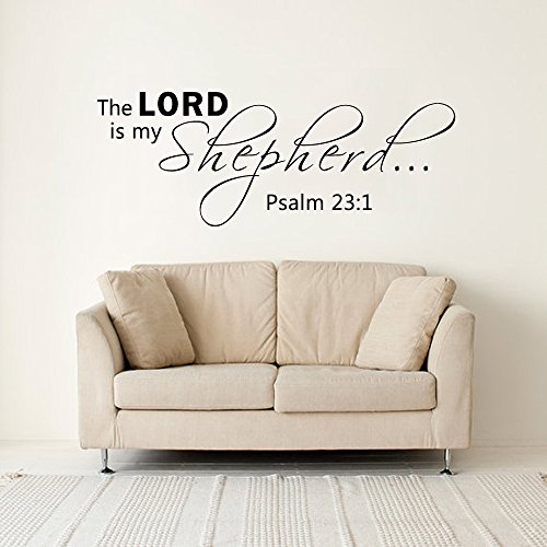 the-lord-is-my-shepherd-salmo-23-1-vinile-adesivi-da-parete-di-art-dichiarazioni-bibbia-vinilico-ner