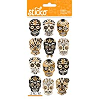 Sticko Halloween Silhouette Sugar Skull Stickers