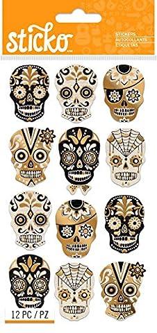 Sticko Stickers-Silhouette Sugar Skull