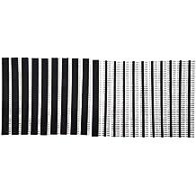 SODIAL(R) 10x Single Reihe Maennliche und weibliche 40 Pinne Kopfleiste 2,54mm