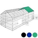TecTake Gabbia da esterno per conigli con protezione parasole | lungh. x largh. x h 180 x 75 x 75 cm...