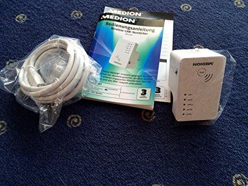 MEDION P85250 (MD 86464) WLAN Verstärker (802.11 b/g/n 2,4GHz, WPS Unterstützung) weiß