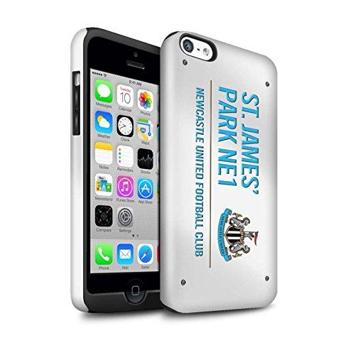 Offiziell Newcastle United FC Hülle / Glanz Harten Stoßfest Case für Apple iPhone 5C / Pack 6pcs Muster / St James Park Zeichen Kollektion Weiß/Blau