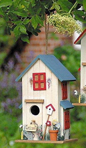 Vogelhaus Vogelhäuschen *Blau* Nistkasten Holz Deko H26cm