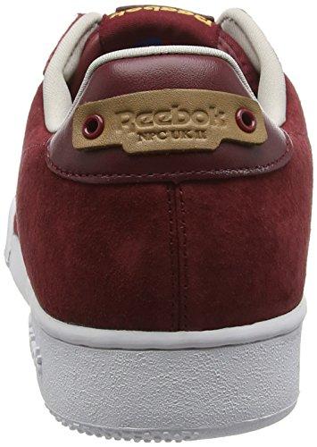 Reebok NPC UK II Nubuck, Sneakers Basses Homme Red (Merlot/White/Sand Stone/Rbk Brass)