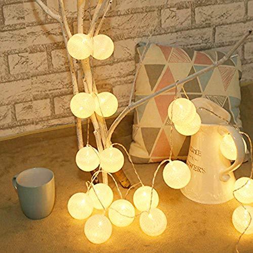 eln LED Lichterketten Batteriebetrieben Deko Lichter für Garten Weihnachten Party Hochzeit (3.3M/20LED, Warmweiß) ()