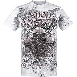 Amon Amarth Beardskulls Camiseta Gris claro