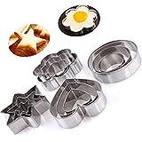 Panniuzhe - Cortadores de galletas de Navidad, de acero inoxidable, molde de estrellas, corazones, redondo y flor (12 piezas)