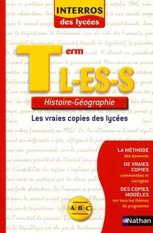 Histoire-Géographie Tle L-ES-S