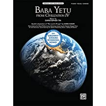 Baba Yetu (from the Video Game Civilization IV): Piano/Vocal/Chords, Sheet (Original Sheet Music Edition)