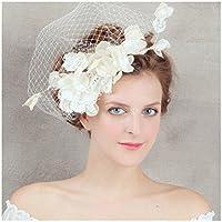 Mesh Cappello Ornato perla di Faux Cappello elegante fiore con velo Cerimonia di nozzeXagoo (stile 1) (stile 1) - Ornato Spilla Pin