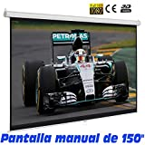 Pantalla de proyeccion manual de 150'
