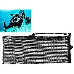 Lunji Sac de Plongée Séchage Rapide Mesh Bag Plongee pour Sport 62.5×26.5cm