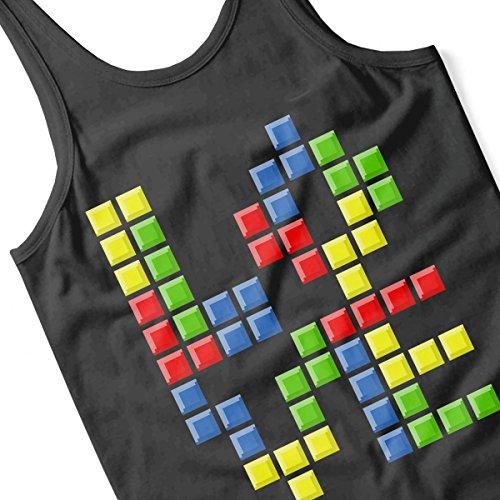 Love Puzzles Tetris Women's Vest Black