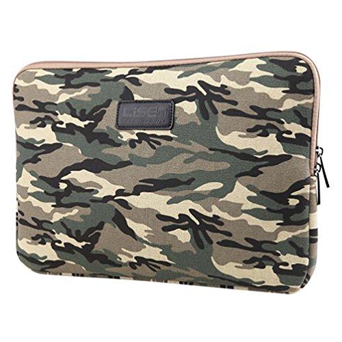 Baymate Unisex Tasche Für Laptop Sleeve Für 11.6-15 Zoll Netbook 12 Zoll Tarnung Armee Grün