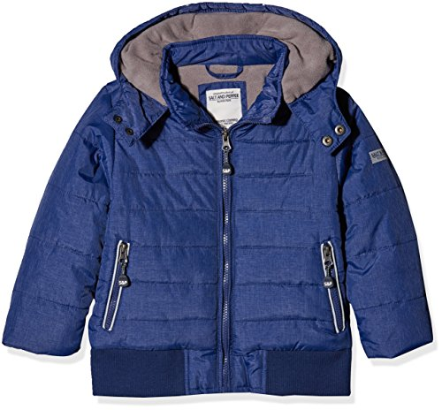 SALT AND PEPPER Jungen Jacke Outdoorjacket Huge Machine, Blau (Ink Blue Melange 481), 104