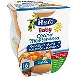 Hero Baby - Cocina Mediterránea Cena De Verduras Con Jamón Y Quesito - [pack de 6]