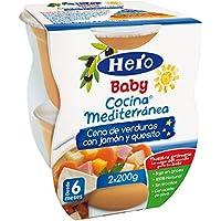 Hero Baby - Cocina Mediterránea Cena De Verduras Con Jamón Y Quesito - , Pack de 6