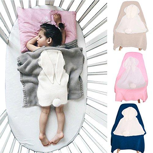 Preisvergleich Produktbild Babydecke Karikatur Niedlich Wrap Swaddle Decke, Oenbopo-Kleinkind-Baby-Kind-reizendes Kaninchen-weiche warme strickte Decke Schlafende Swaddle-Kinderbett-Krippe-Verpackungs-Steppdecke 75cmx98cm