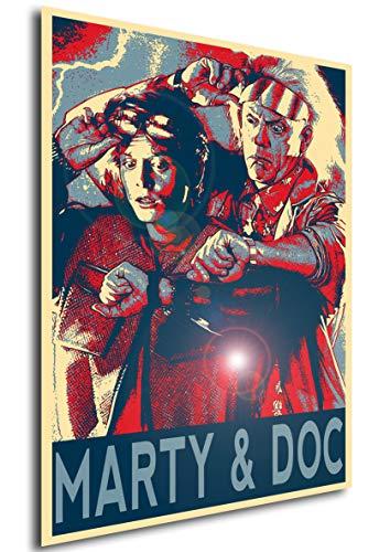 (Instabuy Poster Back to The Future (Zurück in die Zukunft) Propaganda Marty & Doc (Plakat 70x50))