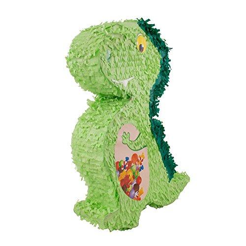 rika: Pinata * DINO *, wird mit Süssigkeiten oder Spielen gefüllt ca.12 x 42 x 56 cm// Piñata Mexiko Dinosaurier Drache Kinder Geburtstag Kindergeburtstag Spiele Spass Geschenke (Dinosaurier Drache)