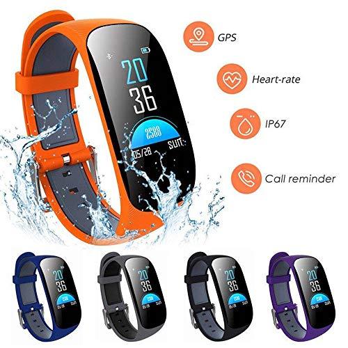 OOFAYWFD Sport Smart Armband Uhr Herzfrequenz Blutdruck GPS Fitness Tracker (Persönliche Schlaf-tracker)