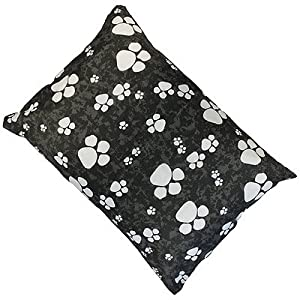 Linens Limited Paws Dog Pet Bed, Black, Medium by Linens Limited