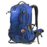 G4Free 50L Outdoor Camping Climbing Hiking Backpack with Rain Cover (D-Royal Blue)