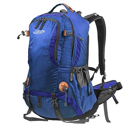 G4Free 50L Outdoor Camping Klettern Wandern Rucksack mit Regen Abdeckung D-Königsblau