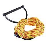 D DOLITY Wasserskileine 23 Meter Wasserski Leine Wakeboard Seil Hantel Rope zufällige Farbe (Orange/Gelb/Grün)