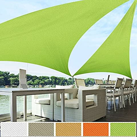 Voile D'ombrage Taupe - Voile d'ombrage triangle casa pura® vert clair