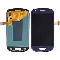 ixuan Pour Samsung Galaxy S3 Mini i8190 i8200 Vitre Tactile Ecran LCD Assemblé ( Non Châssis ) de Remplacement (Bleu nuit )