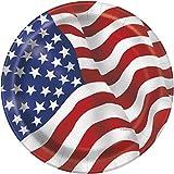 23 cm partido placas bandera americana Los EEUU, Paquete de 8