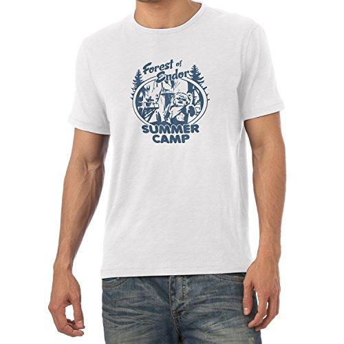 NERDO - Forest of Endor Summer Camp - Herren T-Shirt Weiß