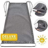 Zamboo Toldo DELUXE / Protección solar universal para cochecitos, capazos y sillas de paseo | Parasol ajustable con protección UV 50+ - Gris