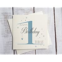 Ragazzo primo compleanno di bambino/Primo Compleanno Scheda/Non personalizzato/Happy Birthday 1oggi primo compleanno di bambino primo compleanno Boy