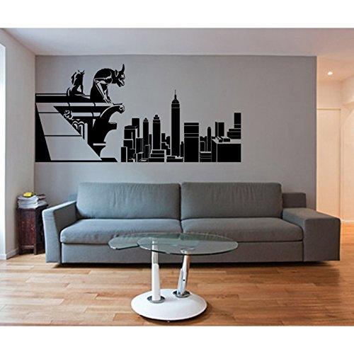TATOUTEX Aufkleber Gargouille und New York, Schokolade, 100 cm x 50 cm (Schokolade New York)