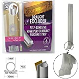 Stormguard Transparent Thermoplastic WeatherSeal Draught Excluder Strip - 6M long for gaps 2 to 7 mm