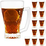 12 türkische Teegläser, 250 ml, Teeglas mit Griff