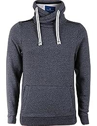TOM TAILOR Sweatshirt with Zipper Detail, Sweat-Shirt Homme