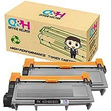 OFFICE HELPER Toner Compatible de Toner TN2320 para Brother HL-L2300D, HL-L2320D, HL-L2340DW, HL-L2360DN, HL-L2360DW, HL-L2365DW, HL-L2380DW, DCP-L2500D, DCP-L2520DW, DCP-L2540DN, DCP-L2560DW, MFC-L2700DW, MFC-L2720DW, MFC-L2740DW (2 Pack)-Negro