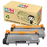 OFFICE HELPER Toner Cartridge Compatible with TN2320 Suitable for Brother HL-L2300D, HL-L2320D, HL-L2340DW, HL-L2360DN, HL-L2360DW, HL-L2365DW, HL-L2380DW, DCP-L2500D, DCP-L2520DW, DCP-L2540DN, DCP-L2560DW, MFC-L2700DW, MFC-L2720DW, MFC-L2740DW (2 Pack)-Nero