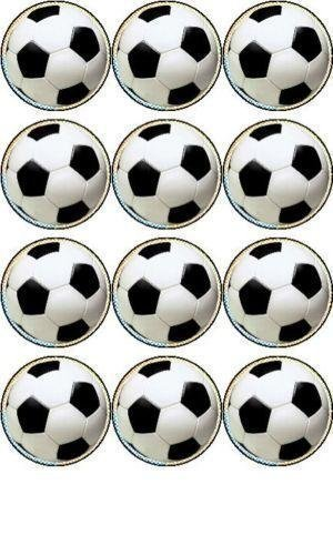 er cupcake toppers 40mm Dekoration von Simply Topps (Fußball-cupcakes)
