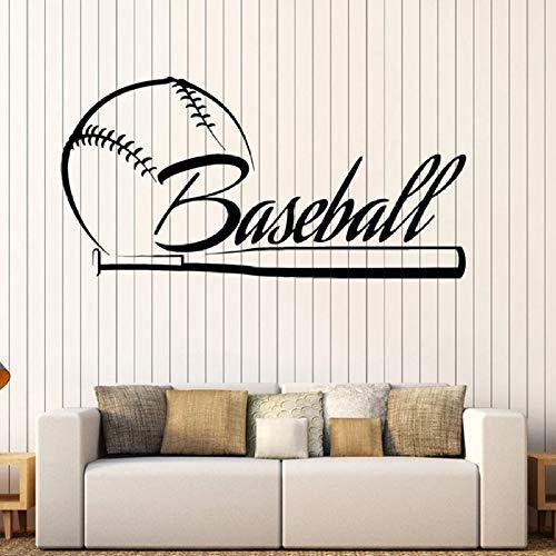 Baseball Wandtattoos Schriftzug Fledermaus Sport Vinyl Fenster Aufkleber Baseball Fans Jungen Schlafzimmer Wohnkultur kreative Wandbilder 42x83 cm