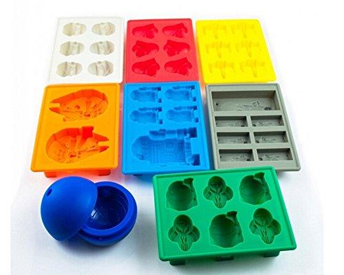 Star Wars - Set da 8 unità di stampi in silicone per cubetti di ghiaccio, cioccolato o sapone