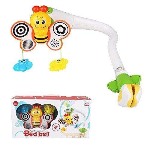 Peradix Baby Musikmobile Bettklingel Bett Hänger Musical Aufleuchten Musik 3D Biene