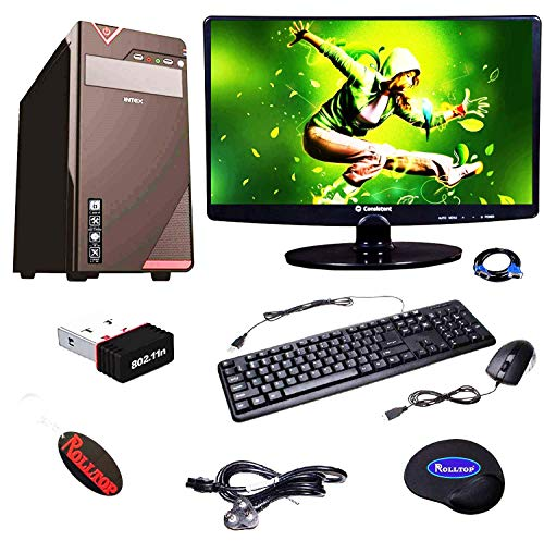Rolltop Assembled Desktop Computer, Intel Pentium G620 Dual Core 2.6 GHz 3 MB Processor H61 Motherboard, 4 GB DDR3 RAM, 500 GB Hard Disk with Windows 10 Professional Trial, LED Monitor