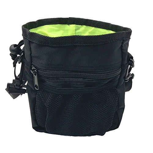 URIJK Haustier Futtertasche Hund Trainingtasche Snackbeutel Futterbeutel Tailletasche Vestellbare Hüftgurt Schultergurt Netztasche