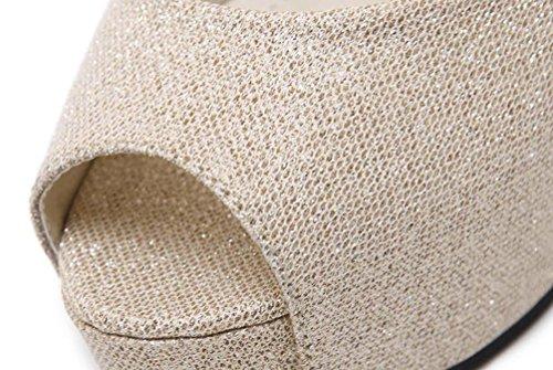 Piattaforma OL da cerimonia nuziale 4 cm Cinghie di caviglia Stiletto 12 cm Tacchi a punta delle dita dei piedini Decoratiom indossabile Casual Scarpe da shopping UE Taglia 34-40 Silver