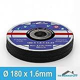 10 Stück Inox Trennscheiben Flexscheiben 180 x 1,6 mm Edelstahl & Stahl, Metall, Eisen